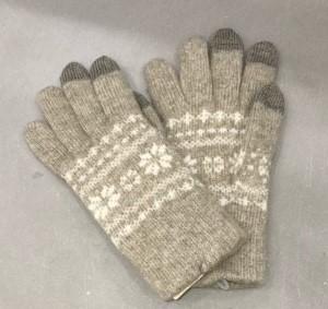 無印良品 ウール混 裏起毛 タッチパネル手袋