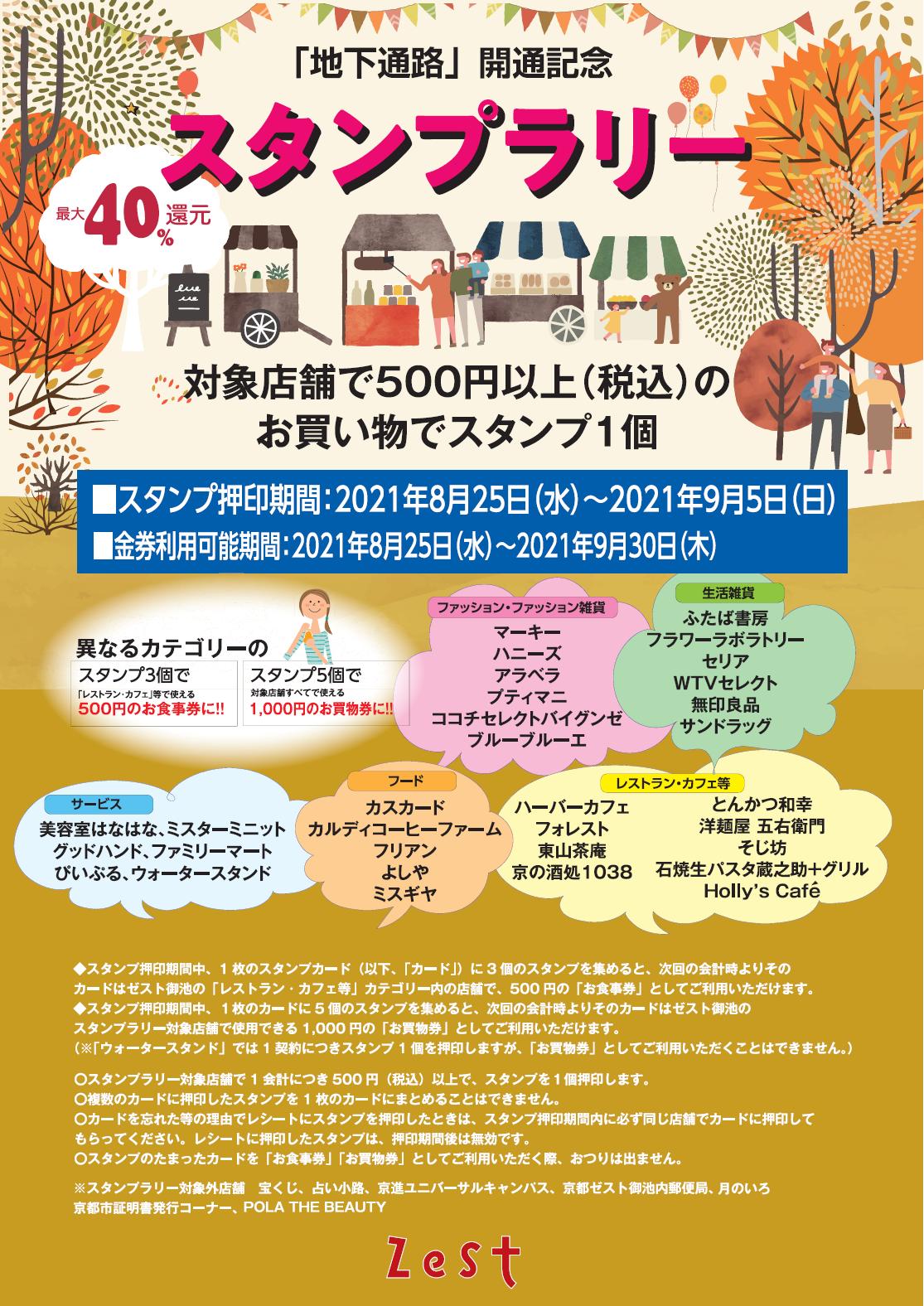京都市役所⇔ゼスト御池 地下通路開通記念スタンプラリー開催!